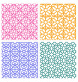 seamless floral pattern in korean stencil style vector image vector image