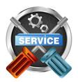 service symbol tool vector image