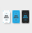set banner for big sale special offers white vector image vector image