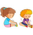 set of boy and girl stretch vector image vector image