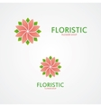 Set of colorful flowers vector image vector image