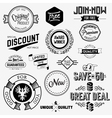 Set of vintage bagdes vector image