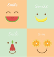 smile fruit vector image vector image