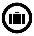 suitcase icon black color simple image vector image vector image