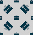 suitcase icon sign Seamless pattern with geometric vector image vector image