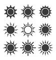 sun icon sets vector image vector image
