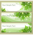 tags with grape leaves vector image vector image
