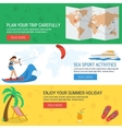 Three banners concept summertime vacation vector image vector image