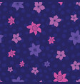 tropical ditsy flowers repeat pattern vector image vector image