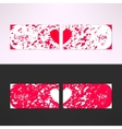 valentines card with debris grunge vector image vector image