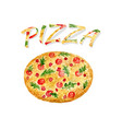 watercolor pizza isolated hand paint artwork vector image