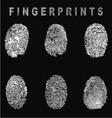 White Fingerprints vector image
