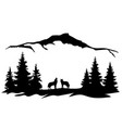 wolves mountains vector image vector image