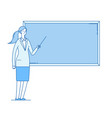 woman teacher young female professor teaching at vector image vector image