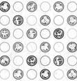 zodiac grungy retro pattern vector image vector image