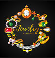 beautiful jewelry accessories round concept vector image