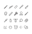 Drawing design tools line text editor vector image