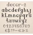 Vintage decorative english alphabet vector image