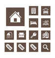 Real estate icons set simplicity theme vector | Price: 1 Credit (USD $1)