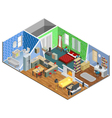 1608i201042Sm003c11apartment 3 rooms isometric vector image vector image
