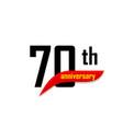 70th anniversary abstract logo seventy vector image vector image