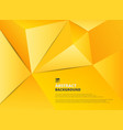 abstract background of gradient yellow pentagon vector image vector image