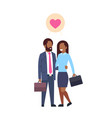 african business parents with suitcase couple in vector image vector image