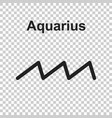 aquarius zodiac sign flat astrology on white vector image vector image