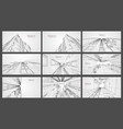 architecture wireframe background set building