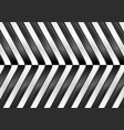 black and white abstract glossy stripes vector image vector image