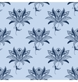 Blue paisley floral pattern vector image vector image