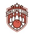 bowling logo emblems vector image