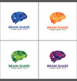 brain logo with different color vector image vector image