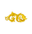 bright golden baroque ornament luxurious floral vector image vector image