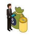 business financial money vector image