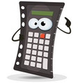 calculator character vector image vector image