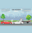 car crash or accident concept vector image