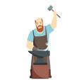 cartoon blacksmith worker isolated on white vector image