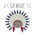 cat in native american Indian war bonnet vector image vector image