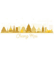 chiang mai thailand city skyline silhouette with vector image vector image