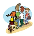 Children at school threat vector image vector image