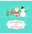 Christmas and New year flat design vector image