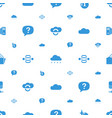 cloud icons pattern seamless white background vector image vector image