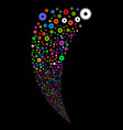 cogwheel random stream vector image vector image