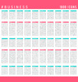 collection linear business icons vector image vector image