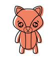 color surprised fox cute wild animal vector image