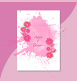 colorful greeting wedding invitation card set vector image vector image