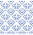 damask seamless on white background vector image vector image