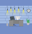 design of a modern office workplace design with a vector image vector image