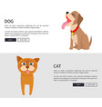 dog and cat conceptual banner vector image vector image